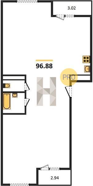 3-комнатная квартира в ЖК Михайлова 31