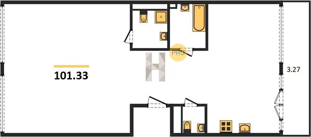 2-комнатная квартира в ЖК Новочерёмушкинская, 17
