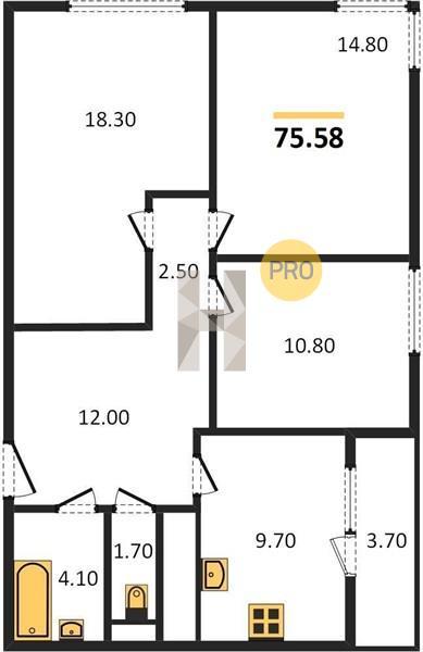 3-комнатная квартира в ЖК Новое Медведково