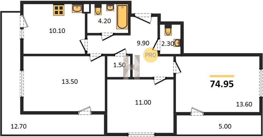 3-комнатная квартира в ЖК Люберцы 2017