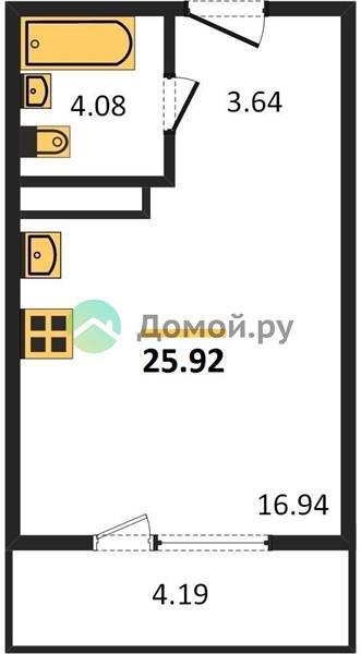 студия квартира в ЖК Пригород лесное