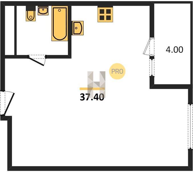 1-комнатная квартира в ЖК Новое Пушкино