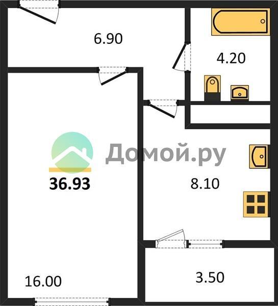 1-комнатная квартира в ЖК Позитив